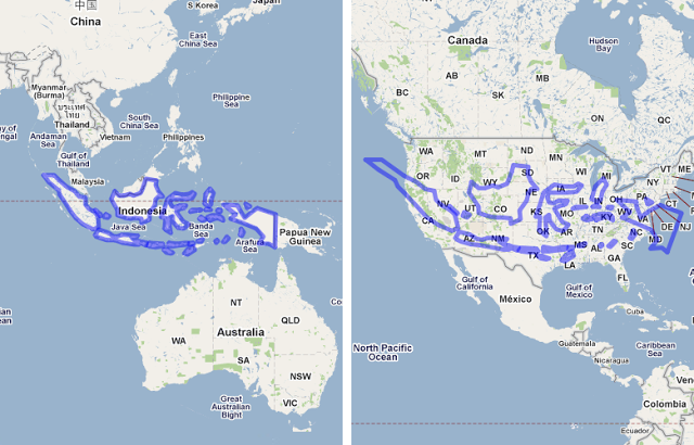 Map Of Australia Vs Usa.6 Eye Opening Maps Of Indonesia You Probably Haven T Seen Before