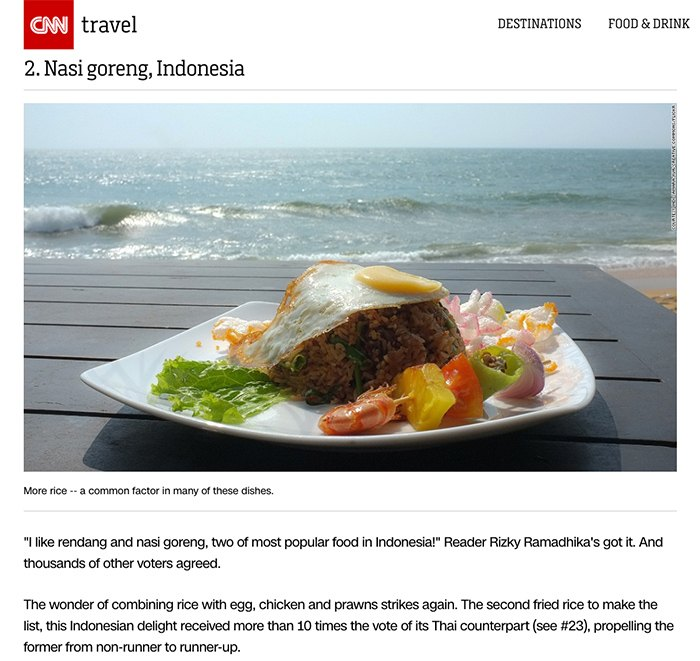 Rendang And Nasi Goreng Are Voted The World S Best Foods Again