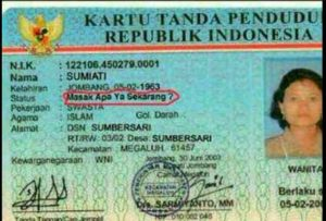 18 Outrageous Indonesian Names Legally Proven By ID Cards