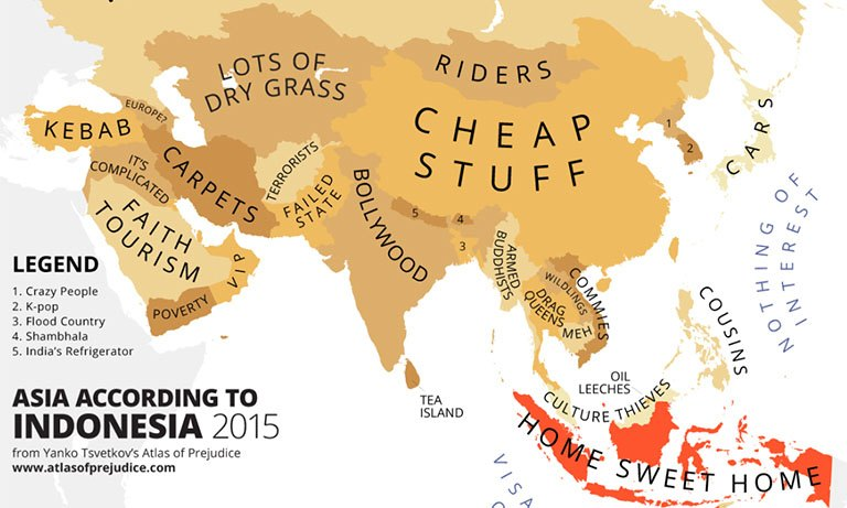 The rest of asia according to indonesia atlas of prejudice wowshack gumiabroncs Images