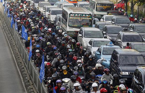 Macet Jakarta Indonesia Traffic