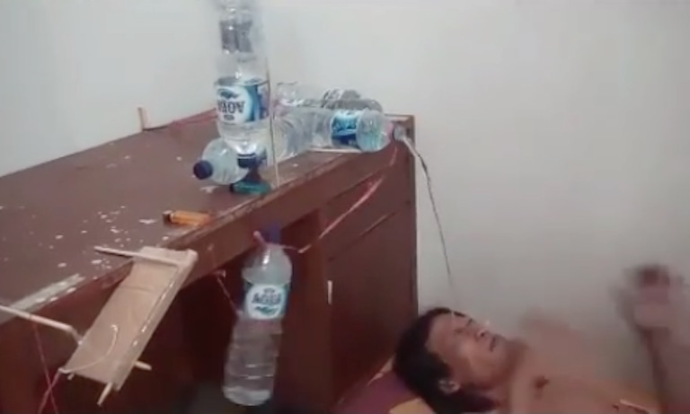 Aqua Bottle Alarm Clock