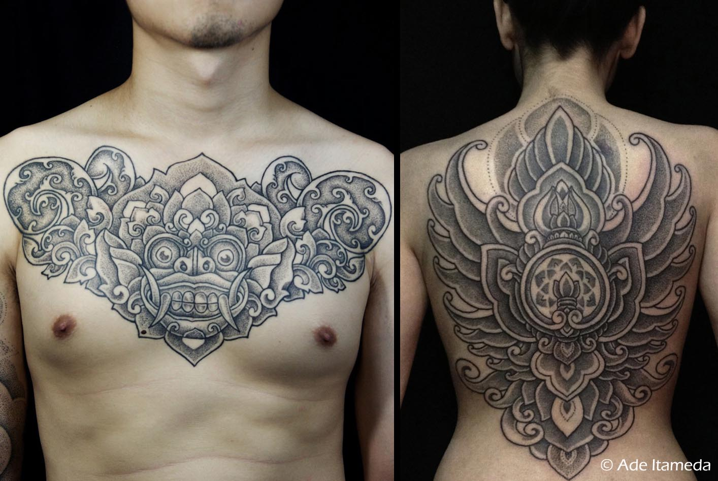 Balinese and Indo-batik inspired tattoos