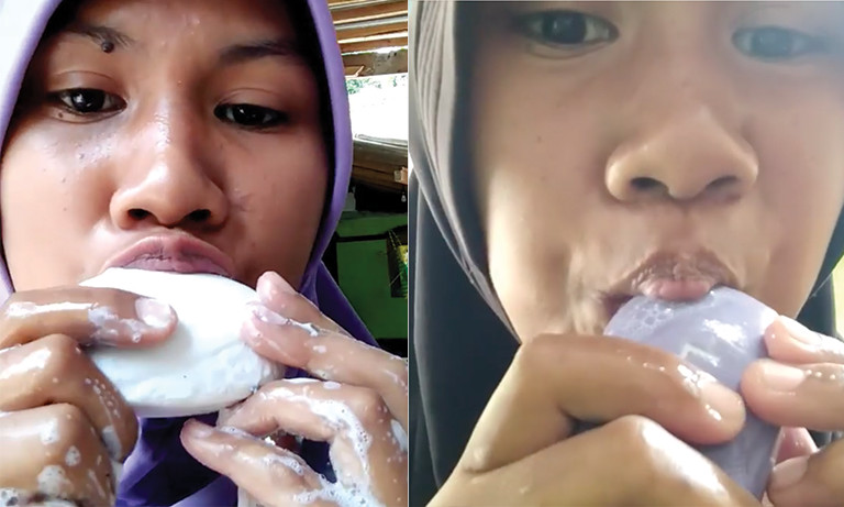 Khosik Assyifa Soap Eating Woman Indonesia